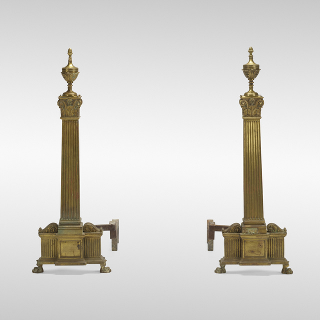 Dorothy Draper Inc., 'Andirons from The Greenbrier Hotel, pair', c. 1947, Wright