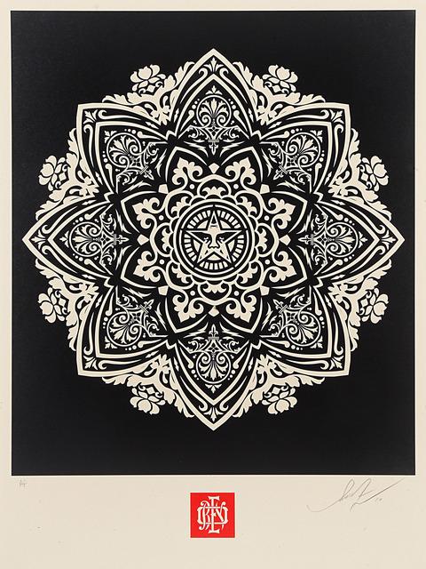 Shepard Fairey, 'Mandala 1 - Black', 2010, Blackline Gallery
