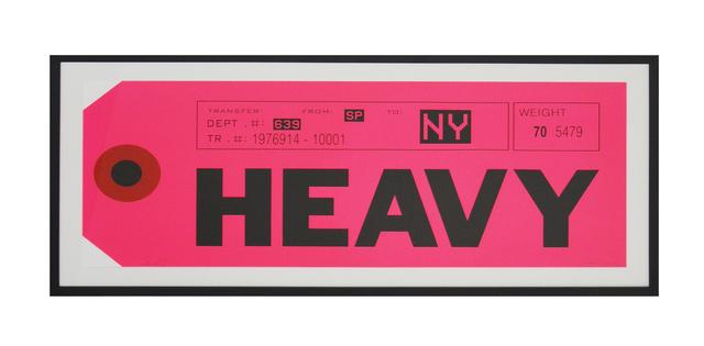 , 'Heavy,' 2015, Galeria Houssein Jarouche