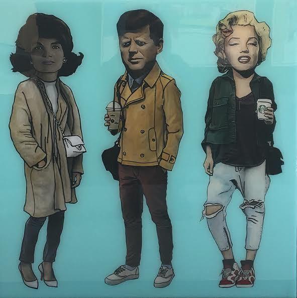 , 'Jackie O, JFK, Marilyn Monroe,' 2016, Mouche Gallery