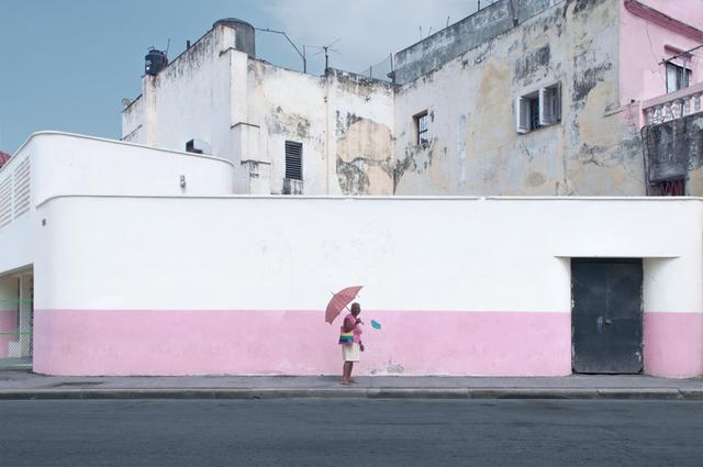 , 'La Dame au parapluie,' 2016, The Print Atelier