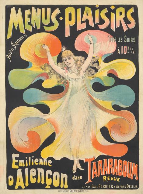 , 'Menus-Plaisirs / Emilienne d'Alençon.,' ca. 1895, Rennert's Gallery