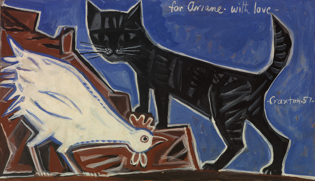 , 'Cockerel & Cat,' 1957, Osborne Samuel