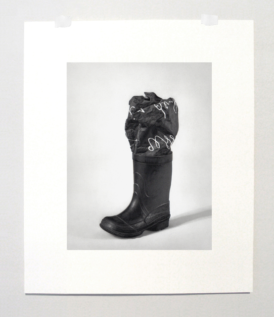 ", 'Formalizing their concept: Marcel Broodthaers' ""Boot and photographic canvas, 1968"",' 2014, Josée Bienvenu"