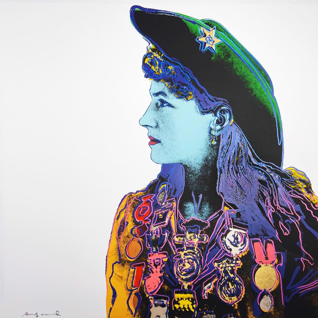 Andy Warhol, 'Cowboys and Indians: Annie Oakley II.378', 1986, Hamilton-Selway Fine Art