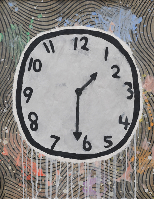 , 'The Amiable Annex (Clock),' 2014, McClain Gallery