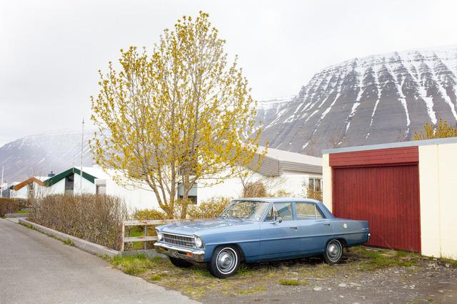 , 'Blue Car, Ísafjörður,' 2011, Robert Mann Gallery