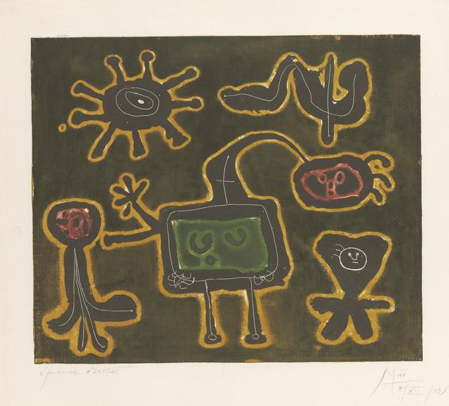 Joan Miró, 'Série I: one plate', 1952-53, Christie's
