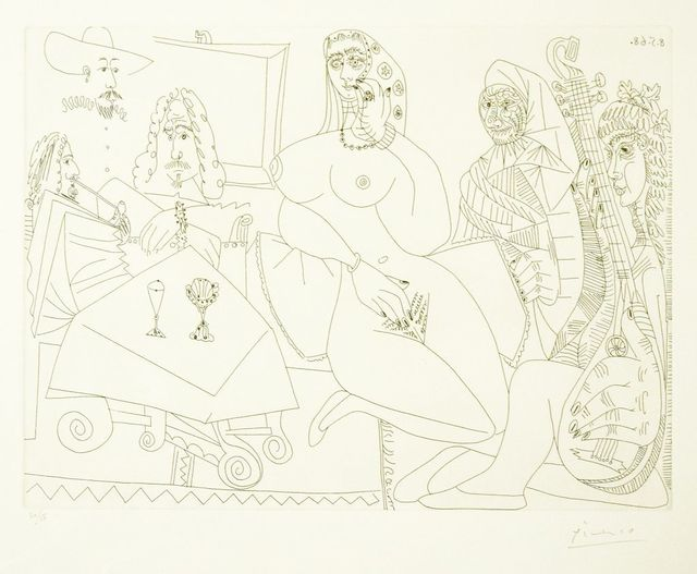 Pablo Picasso, 'Untitled, 8.5.68.', 1968, Wallector