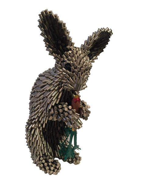 , 'Silver Rabbit with Carrot,' 2018, Adelson Cavalier Galleries