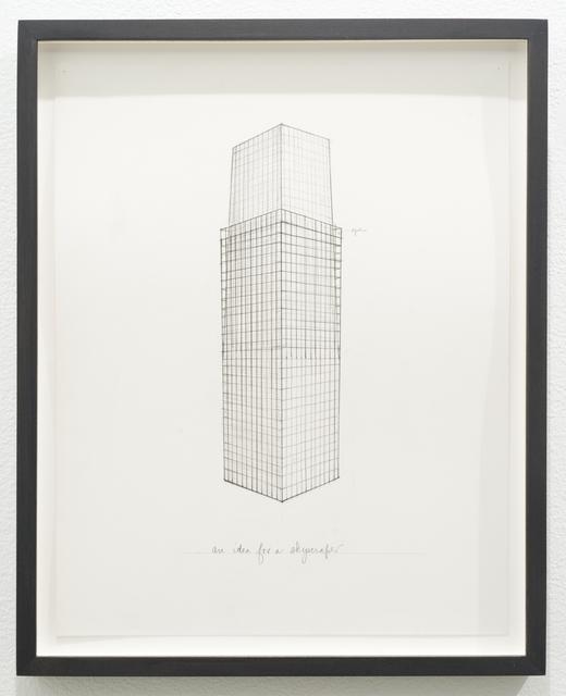 Roy McMakin, 'Untitled (an idea for a skyscraper)', 2013, Lora Reynolds Gallery