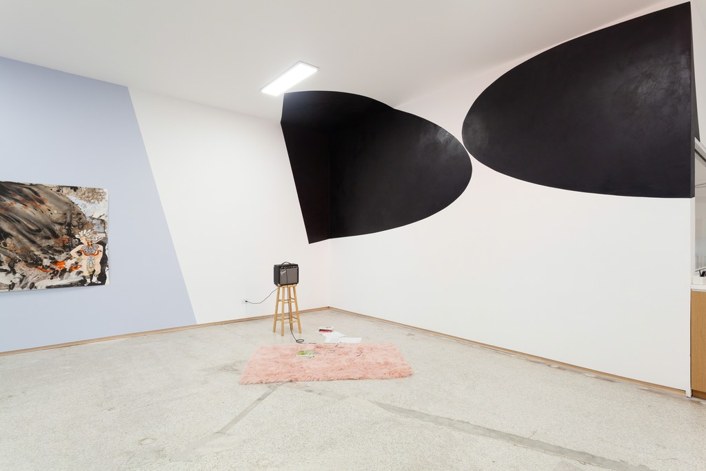 Installation view of Felecia Chizuko Carlisle's Oppositional Forces and the Grey Area, 2018.