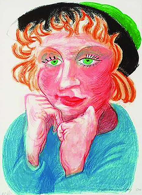 David Hockney, 'Celia with a Green Hat', 1984, Belgis-Freidel Fine Art, Ltd.