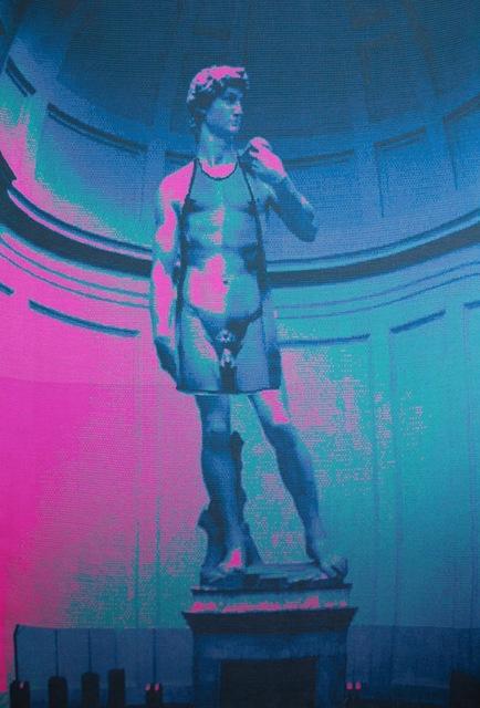 , 'David Wearing an Apron of David ((hot pink, deep sea, oxford, teal and petrol),' 2014, Cynthia Corbett Gallery