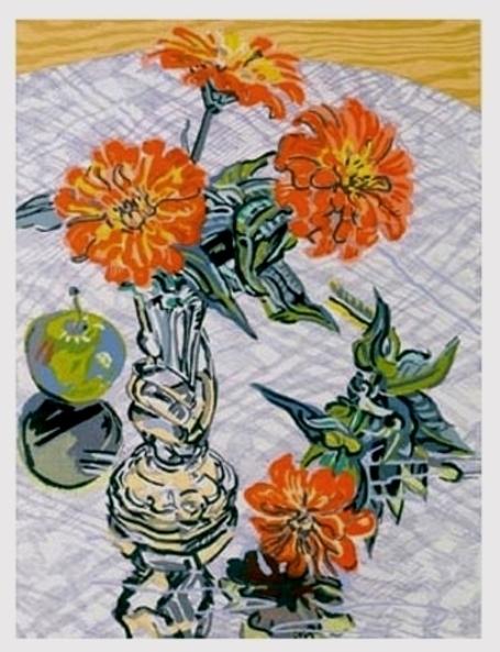 , 'Zinnias and Apples,' 1995, michael lisi / contemporary art