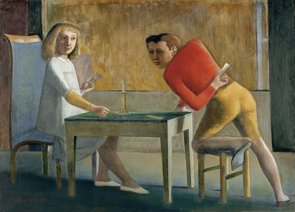 Balthus, La Partie de Cartes, 1948-1950 Oil on canvas, 139.7 x 193.7 cm Museo Nacional Thyssen-Bornemisza, Madrid © Balthus