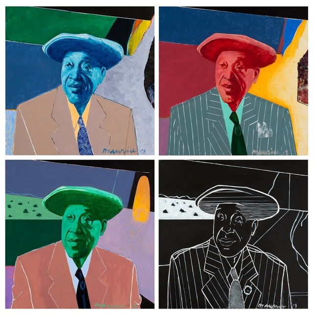 Maurice Burns, 'Jimmy Yancey (quadriptych)', 2013, Gerald Peters Gallery