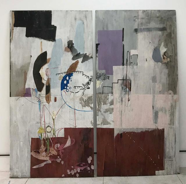 Catalina León, 'Tabla con lirios y reloj', 2013-2014, Ruth Benzacar Galería de Arte