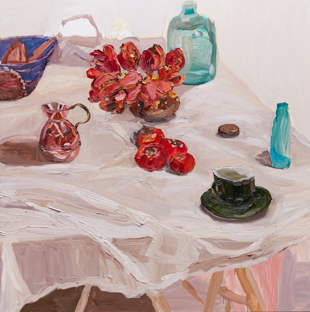 , 'Parrot Tulips and Persimmons,' 2015, Olsen Irwin