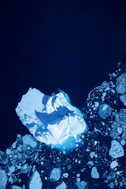 Zaria Forman, 'Arctic Ocean, Greenland, No. 2, N66.32140 W37.17977982, Apr. 22, 2017', 2019, Winston Wächter Fine Art
