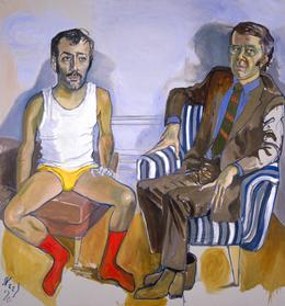 Alice Neel, 'David Bourdon and Gregory Battcock', 1970, Blanton Museum of Art