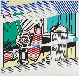 Roy Lichtenstein, 'Reflections on Soda Fountain, from The Reflection Series,' 1991, Phillips: Evening and Day Editions (October 2016)