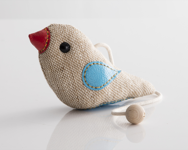 "Renate Müller, '""Therapeutic Toy"" Bird in jute and leather. Originally designed and made by Renate Müller in 1981/82. This example made by Renate Müller, Germany, 2015.', 2015, R & Company"