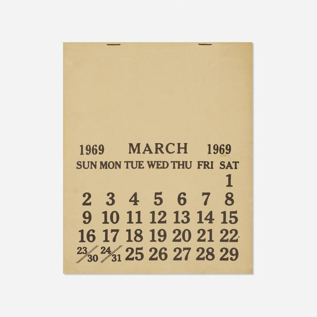 Seth Siegelaub, 'One Month (March 1-31, 1969)', 1969, Wright