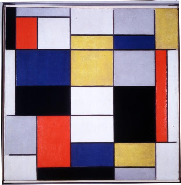 , 'Grande composizione A con nero, rosso, grigio, giallo e blu,' 1919-1920, Centre for Fine Arts (BOZAR)