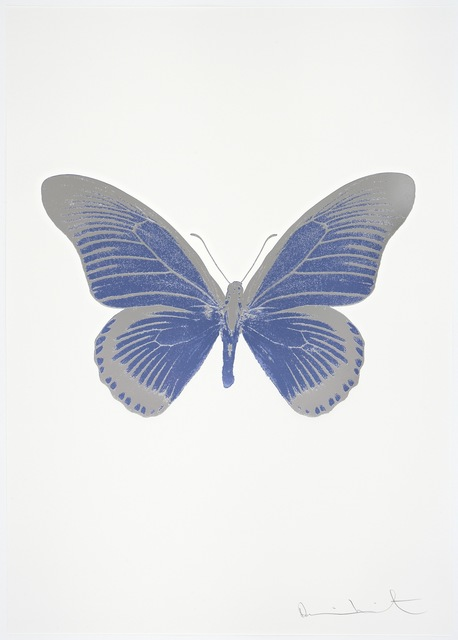 , 'The Souls IV - Cornflower Blue/Silver Gloss/Blind Impression,' 2010, Paul Stolper Gallery