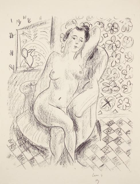 , 'Nu au fauteuil sur fond moucharabieh,' 1925, Marlborough Gallery