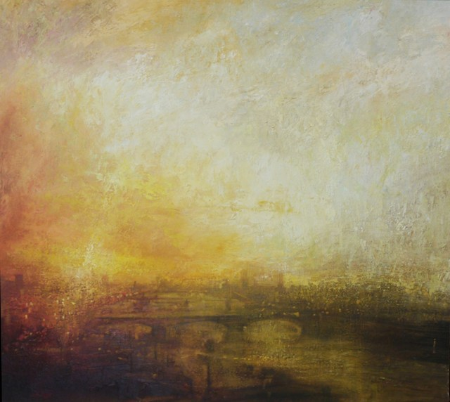 , 'Sunset, towards Battersea Power Station,' 2016, Tanya Baxter Contemporary