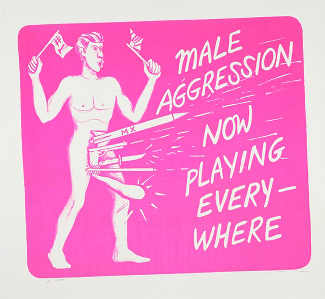 Jonathan Borofsky, 'Male Aggression', 1986, Tres Hombres