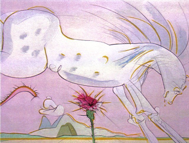 Salvador Dalí, 'Le Cheval et le Loup (The Horse and the Wolf)', 1974, Print, Etching/ Engraving, Puccio Fine Art