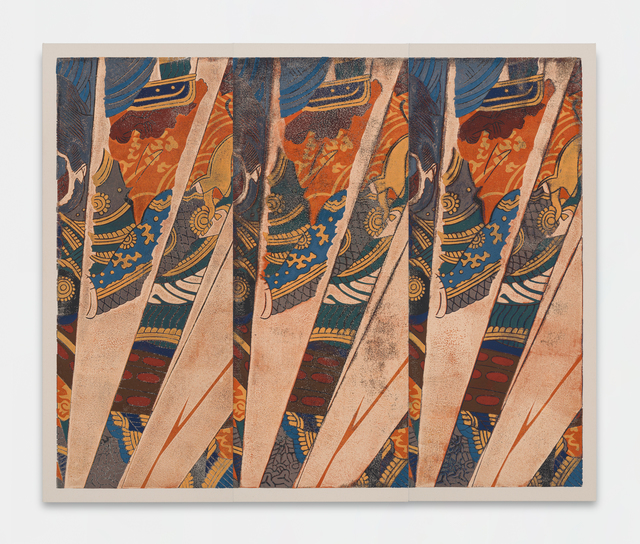 Kour Pour, 'Triple Samurai (Kuniyoshi)', 2018, Ever Gold [Projects]