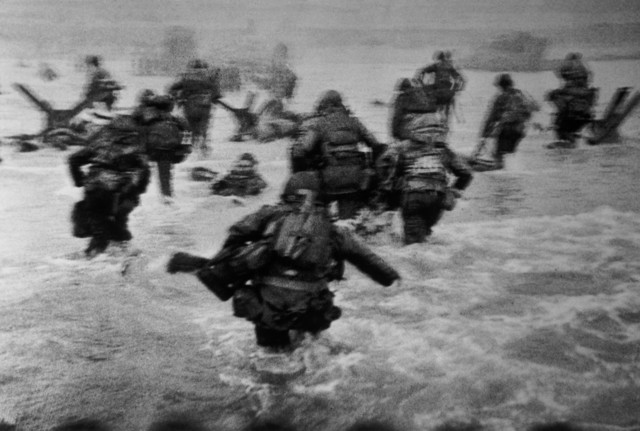 , 'US troops assault Omaha Beach during the D-Day landings. Normandy, France. ,' 1944, Magnum Photos