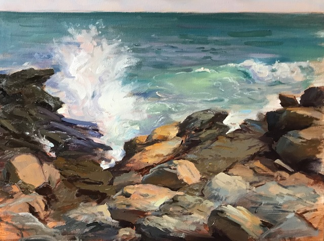 , 'Crashing Waves at Marshall Point,' 2018, The Galleries at Salmagundi