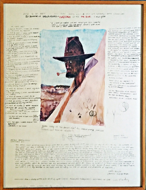, 'LETTER TO THE PRESS, THAT BLAME TREATY AGAIN (DECORATION OF INDEPENDANTS AT CHRISTMAS), 1977,' 1978, Alpha 137 Gallery