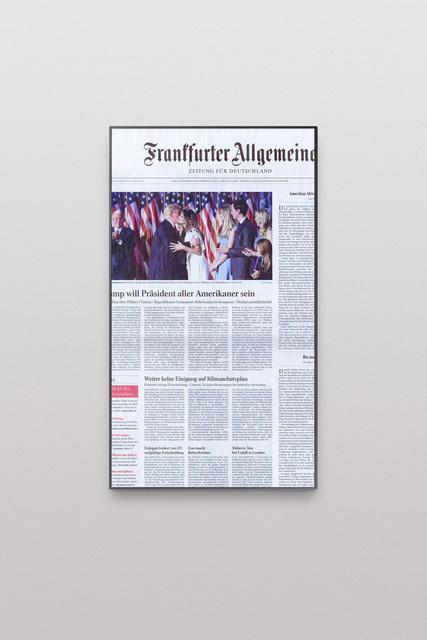 , 'Online Newspapers, Postfactual Edition, Trump,' 2017, Roehrs & Boetsch