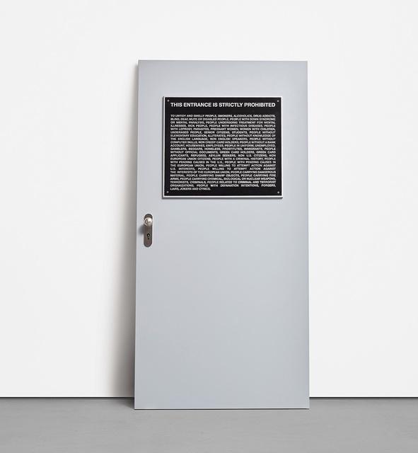 Santiago Sierra, 'Aviso Público (Public Notice), from Door Cycle', 2006, Phillips