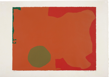 Patrick Heron, 'Umber Disk and Red Edge,' 1970, Phillips: Evening and Day Editions