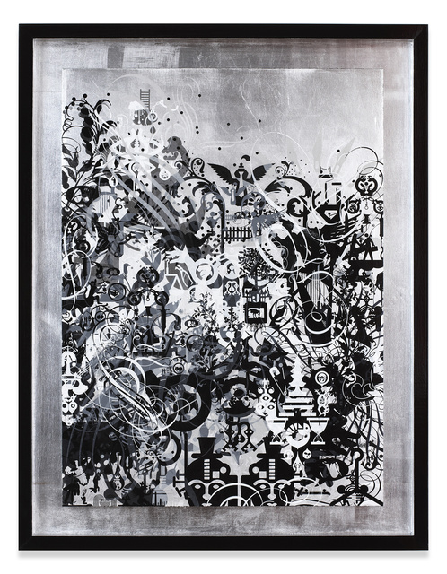Ryan McGinness, 'Fear Attacks Courage Waits', 2014, Miles McEnery Gallery