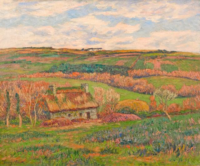 Henry Moret, 'Paysage à la Chaumière Bretonne', ca. 1910, Painting, Oil on canvas, Taylor | Graham