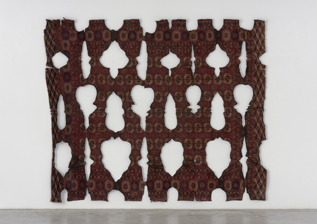, 'Untitled (burned carpet),' 2014, Galleria Massimo Minini