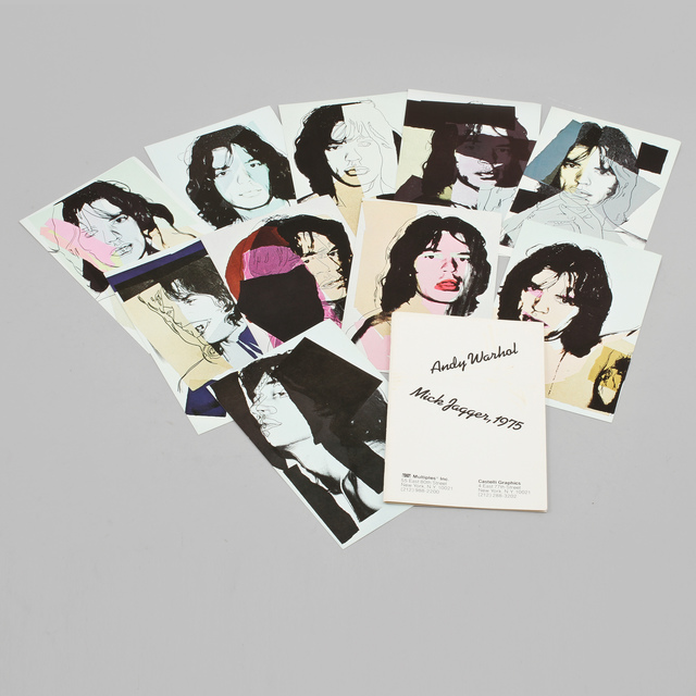 Andy Warhol, ' Mick Jagger mini folios. First and never released edition with no printed signatures Mick Jagger mini folios. ', 1975, MultiplesInc Projects