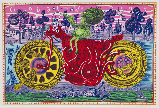 Grayson Perry, 'Selfie with Political Causes', 2018, Paragon