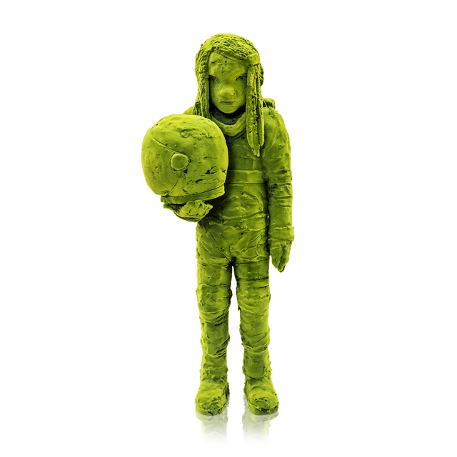 , 'Moss Astronaut Holding Helmet,' 2017, Jason Jacques Gallery