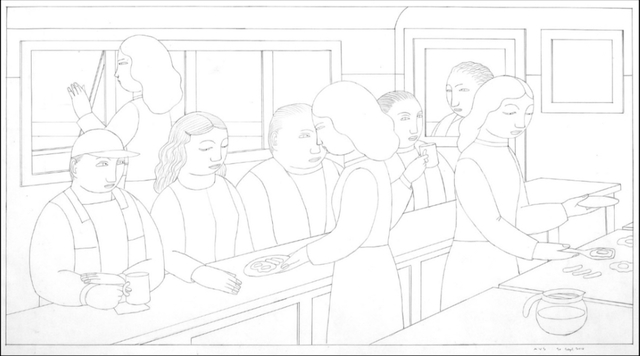 , 'Jessie's Diner, Drawing 33,' 2016, Adelson Galleries