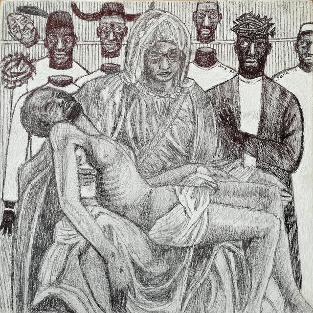 , 'Mukaabya's la pieta 2,' 2016, Afriart Gallery