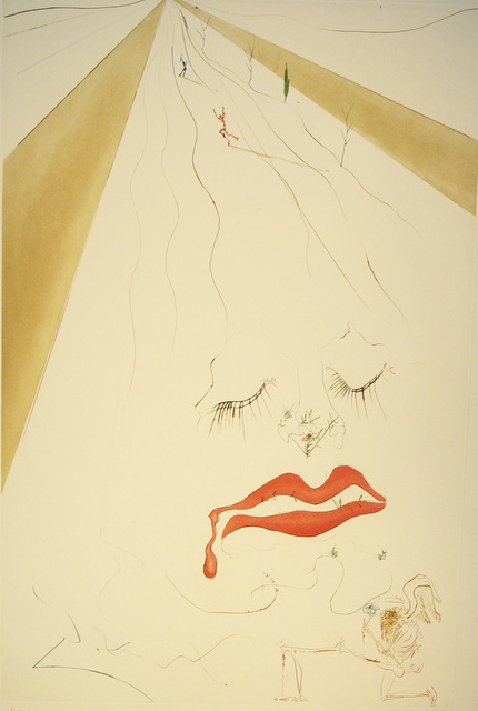 Salvador Dalí, 'Transfiguration', 1973, Print, Drypoint with added watercolor, DTR Modern Galleries
